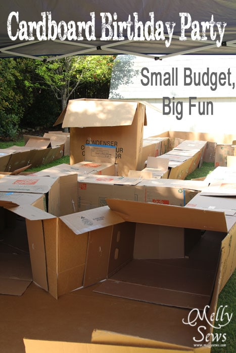 Fabulous DIY Cardboard Birthday Party with (almost) free entertainment for the kids by Melly Sews