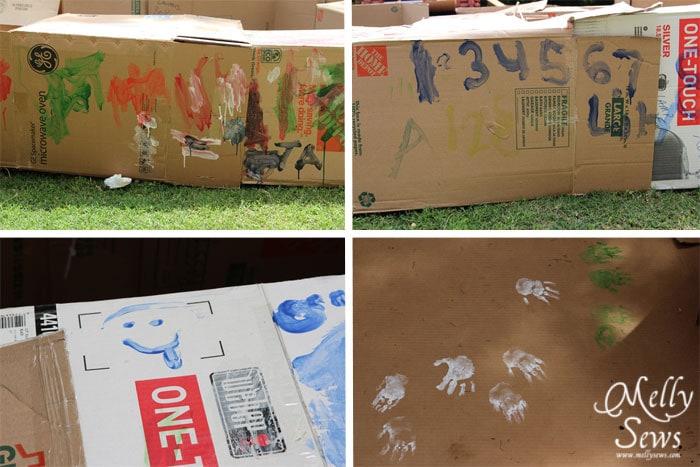 Cardboard Birthday Party by Melly Sews