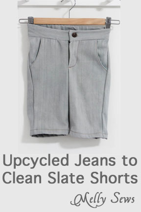 Upcycled jeans to kid shorts