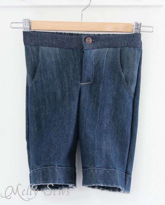 Clean Slate Shorts by Blank Slate Patterns in denim