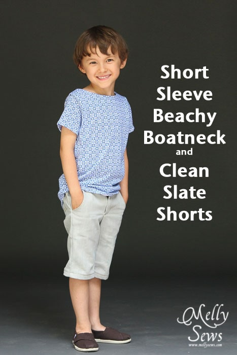 Short Sleeve Beachy Boatneck and Clean Slate Shorts patterns by Blank Slate Patterns