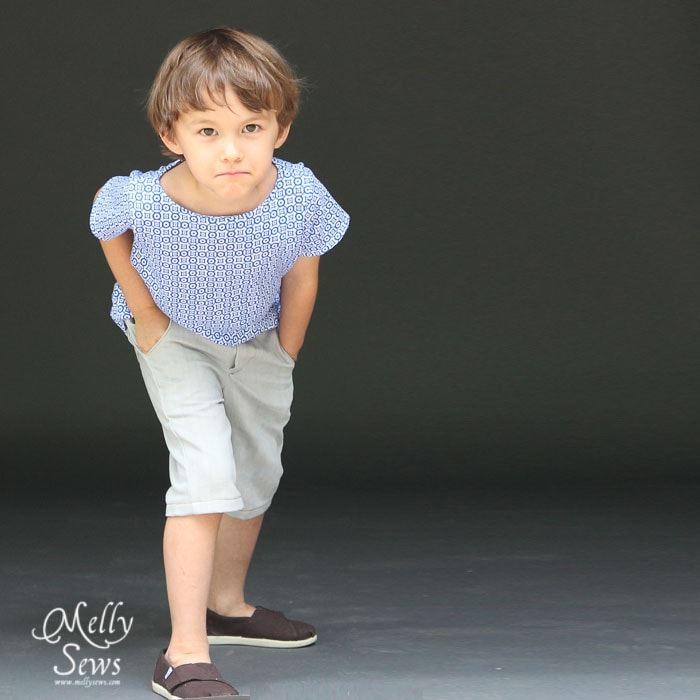 Sewing patterns for boys - Beachy Boatneck and Clean Slate Shorts by Blank Slate Patterns
