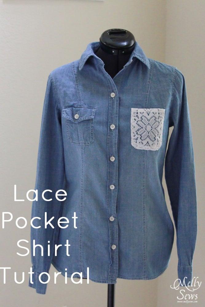 Lace Pocket Shirt Tutorial