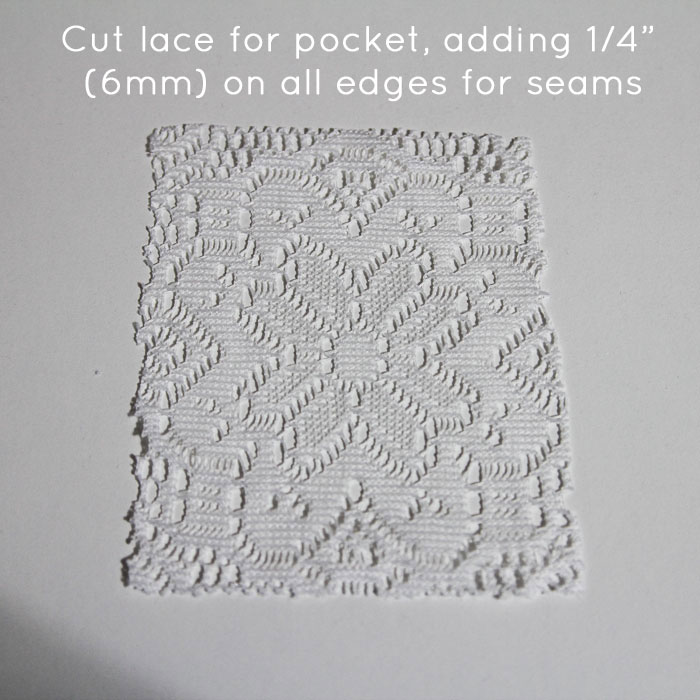 Step 1: Cut lace