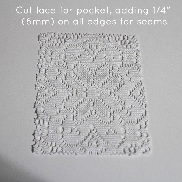 Step 1: Cut lace