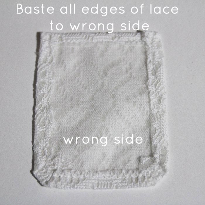 Step 4: Baste edges