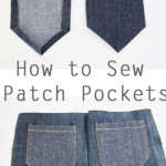 How to sew patch pockets tutorial