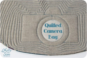 Quilted Camera Bag pattern by Melly Sews
