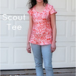 Scout T-shirt by Grainline Studio sewn by Melly Sews