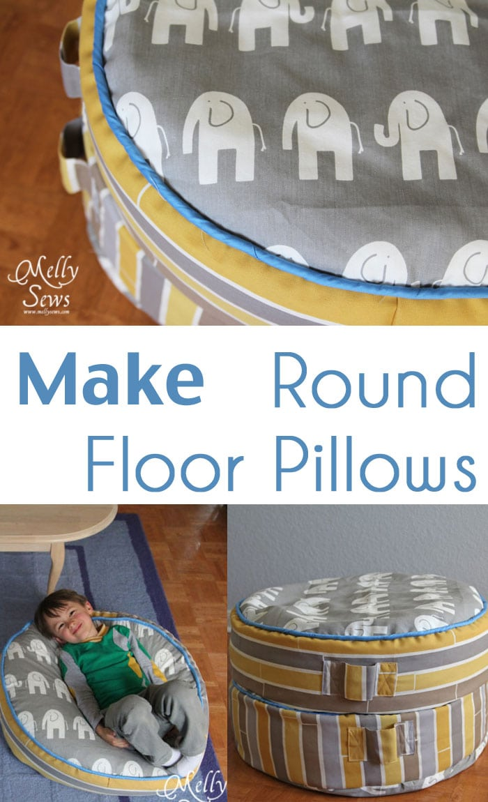 Project Redecorate: Sew Floor Pillows - Melly Sews