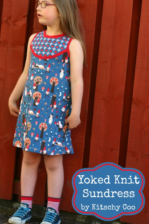 Yoked knit sundress modelled