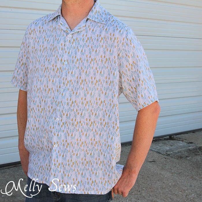Men 39 s shirt pattern and tutorial melly sews for Patterned dress shirts for men