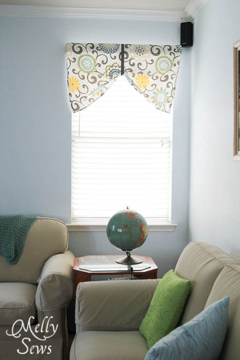 Sew a Valance Tutorial by Melly Sews