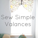 How To Sew a Simple Valance by Melly Sews