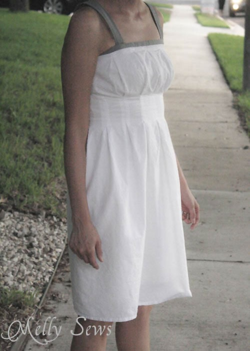 Pleated Dress Tutorial by Melly Sews - easy and flattering dress for summer