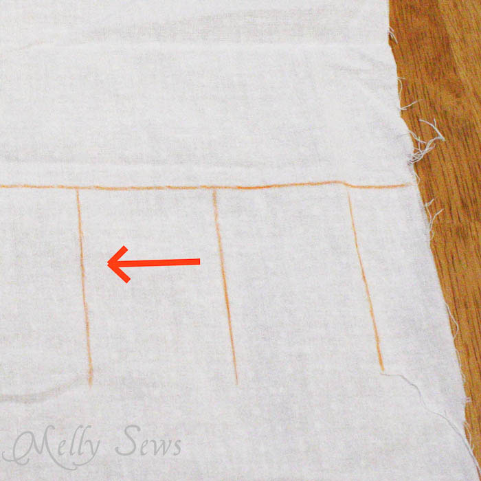 Pleated Dress Tutorial by Melly Sews - step 2