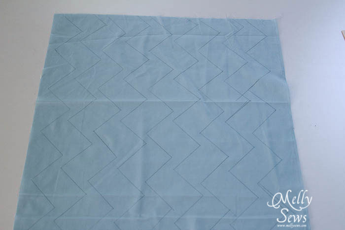 Draw lines for quilting