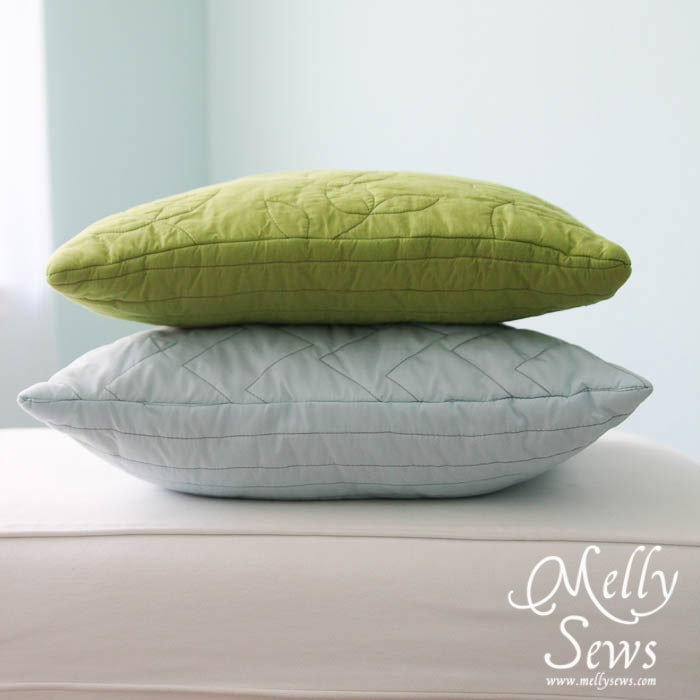 Quilted pillows by Melly Sews