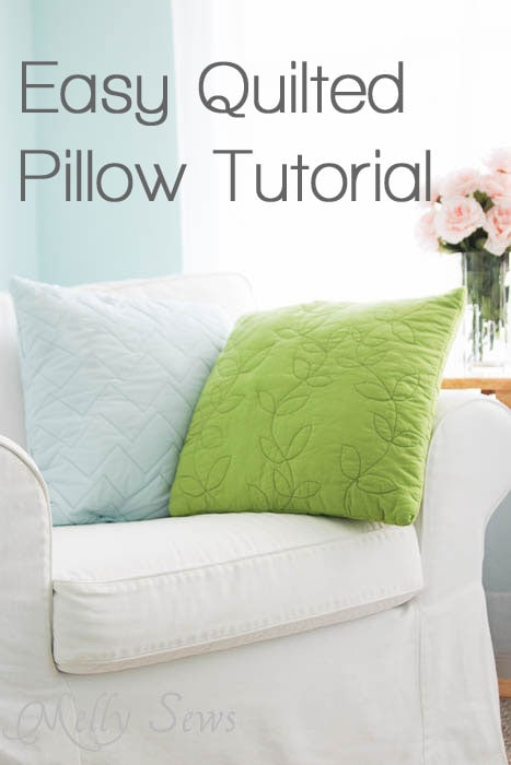 Easy Quilted Pillow Tutorial by Melly Sews