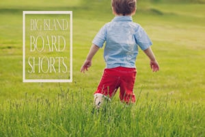 Big Island Board Shorts by Blank Slate Patterns sewn by Winter Wonderings, Wanderings and Whatnot by Winter