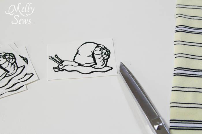 Snail t-shirt transfer