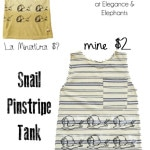 Snail Pinstripe Shirt Knock off of La Miniatura Shirt with free snail printable