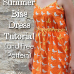 Bias Trim Sundress tutorial with free pattern by Melly Sews