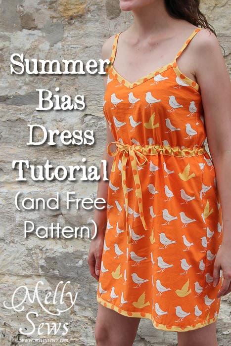 Summer Bias Dress Sundress Tutorial by Melly Sews