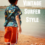 Vintage Surfer Style Board Shorts Sewing Pattern for Vintage May