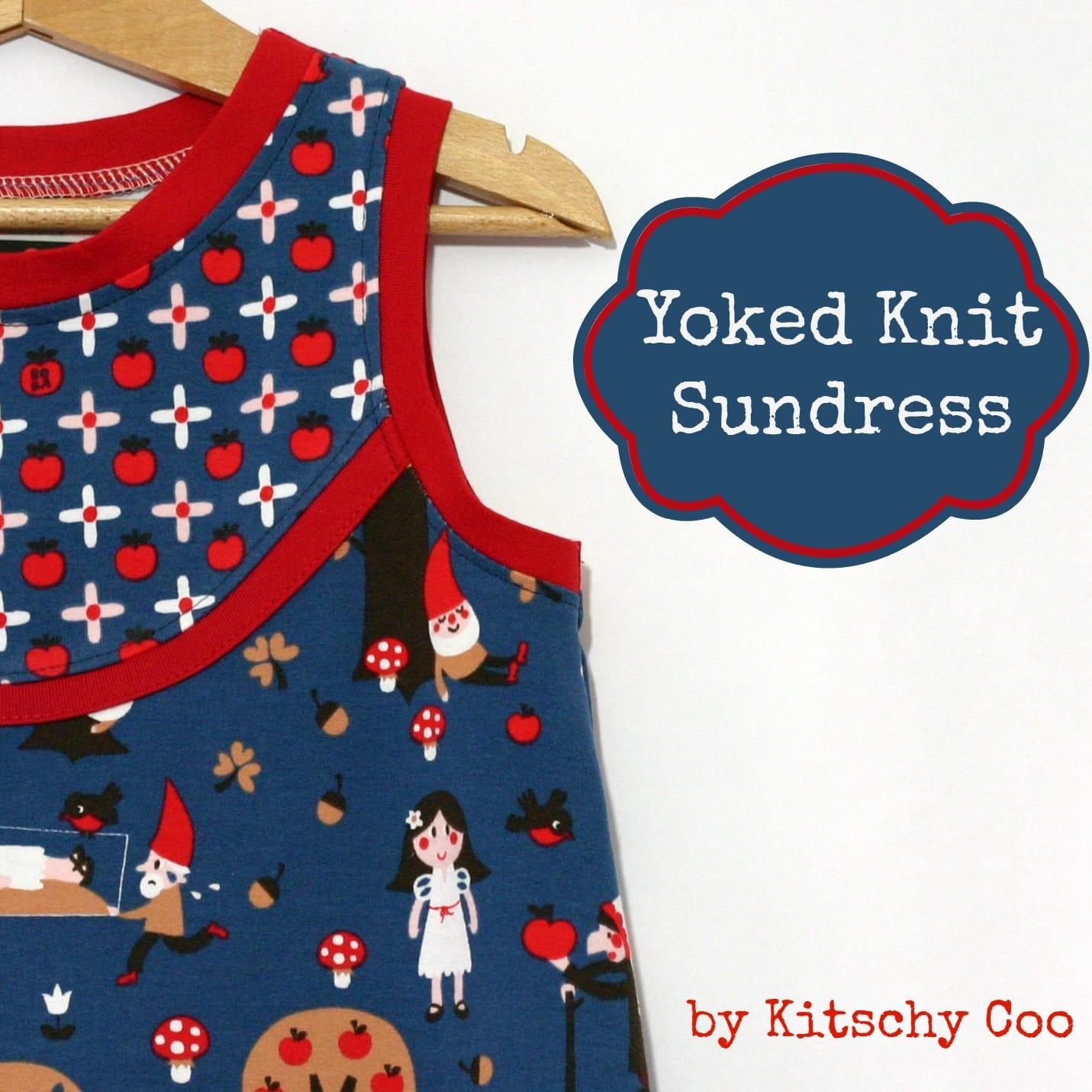 yoked knit sundress teaser