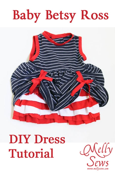 Baby Betsy Ross DIY 4th of July Dress Tutorial by Melly Sews