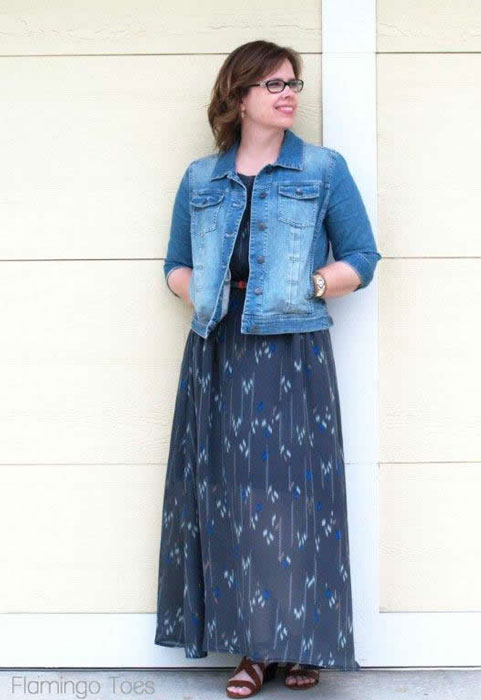 Chiffon Maxi Sundress Tutorial by Flamingo Toes for Melly Sews (30) Days of Sundresses
