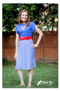 Patriotic Knit Sundress Tutorial by Sugar Bee Crafts for Melly Sews (30) Days of Sundresses