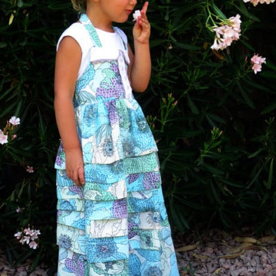 Sundress Series – Pintuck Ruffled Maxi Sundress Tutorial by A Couple of Craft Addicts