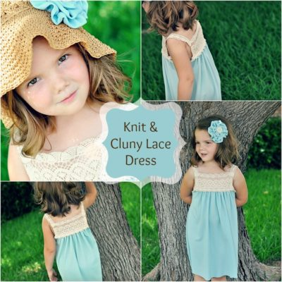 Sundress Series – Knit and Cluny Lace Sundress Tutorial by Destri of The Mother Huddle