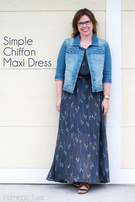 Simple Chiffon Maxi Sundress Tutorial by Flamingo Toes for Melly Sews (30) Days of Sundresses