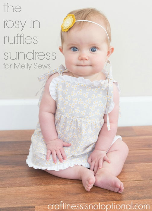 Rosy in Ruffles Sundress Tutorial by Craftiness is Not Optional for Melly Sews (30) Days of Sundresses