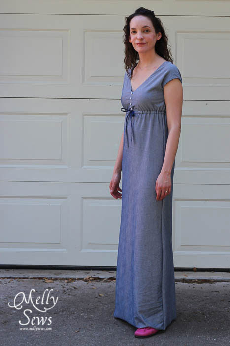 Striped Maxi Sundress Tutorial - made from sheets