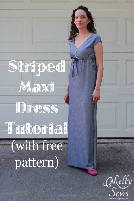 Striped Maxi Sundress Tutorial - Melly Sews