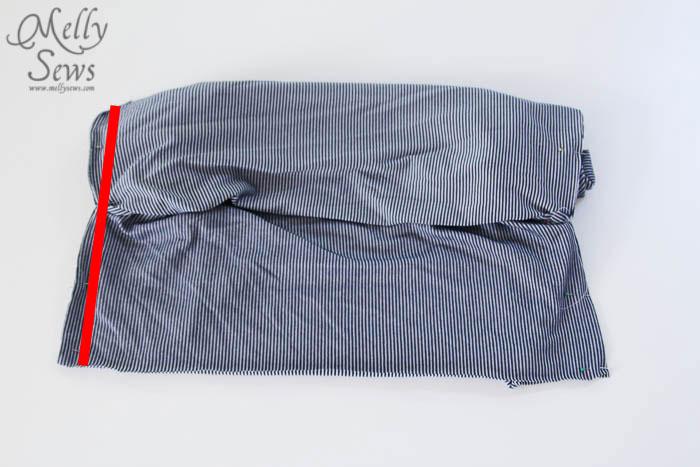 Striped Maxi Sundress Tutorial side seams