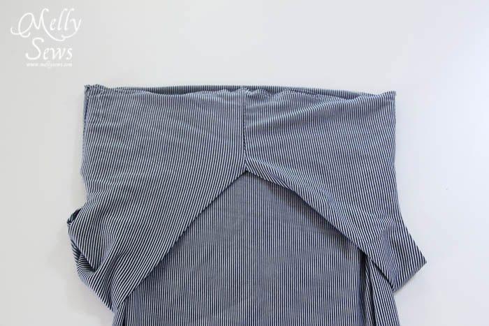 Striped Maxi Sundress Tutorial waist