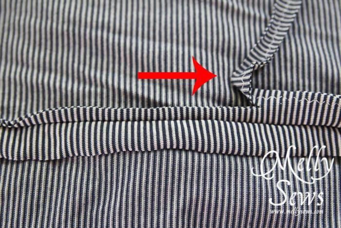 Striped Maxi Sundress Tutorial seam allowances