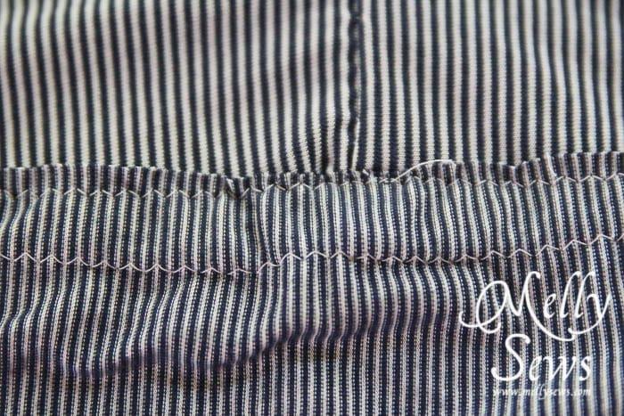 Striped Maxi Sundress Tutorial casing