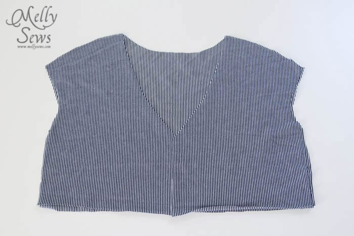 Striped Maxi Sundress Tutorial - step 1