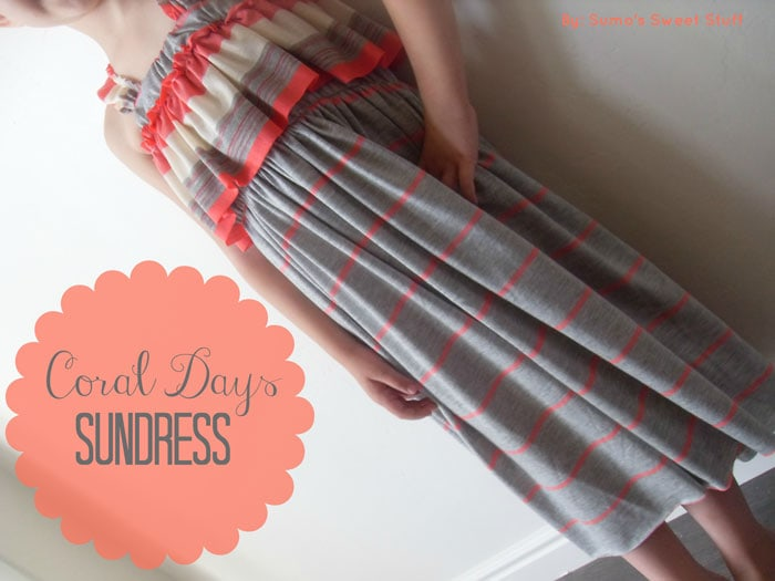 Coral Days Sundress Tutorial by Sumo's Sweet Stuff for Melly Sews (30) Days of Sundresses
