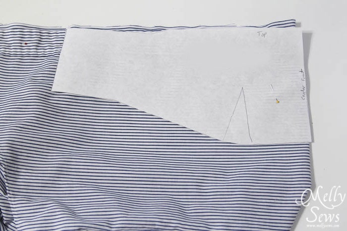 Step 3: Men's Shirt to strapless sundress tutorial - upcycle by Melly Sews for (30) Days of Sundresses