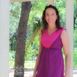 Close Up of Colorblock V-Neck Sundress Tutorial with free pattern by Melly Sews for (30) Days of Sundresses