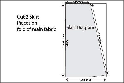 Skirt diagram for Colorblock V-Neck dress