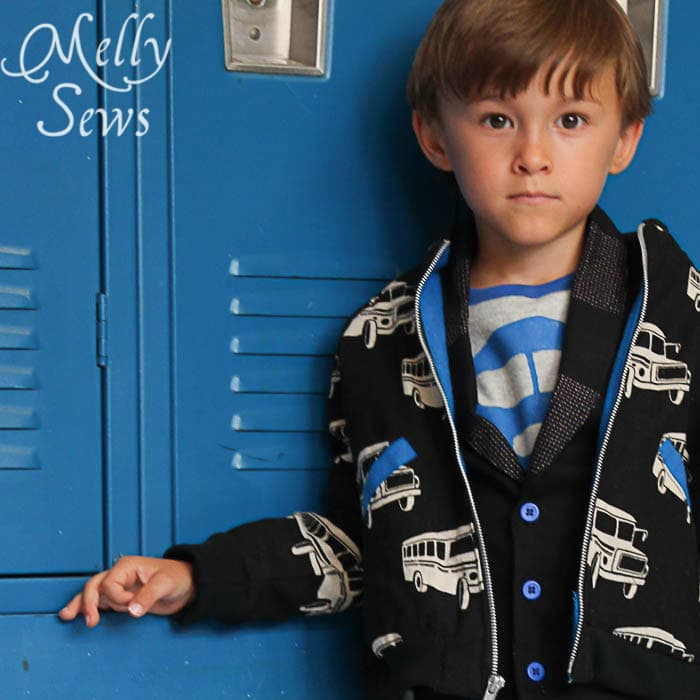 Study Hall Jacket Front from the Alphabet Collection PDF Sewing Patterns by Pattern Anthology