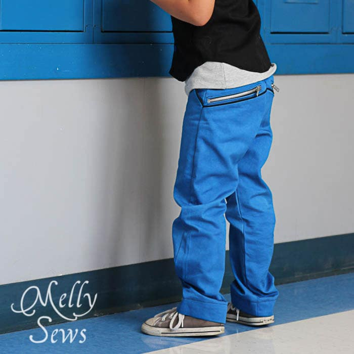 W Pants from the Alphabet Collection PDF Sewing Patterns by Pattern Anthology